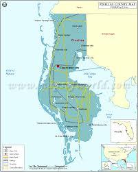 Map Florida Gulf Coast by Pinellas County Map Florida