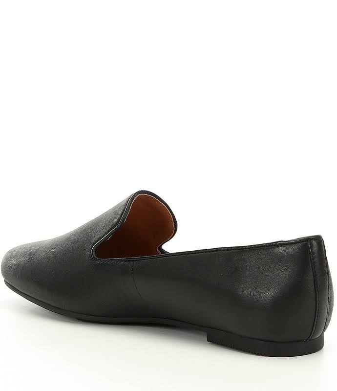 Gentle Souls Eugene Leather Square Toe Loafers, Black,
