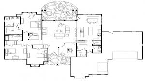 superb one level open floor plans part 4 ranch style house plan
