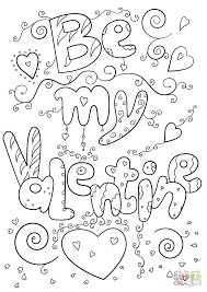 be my valentine coloring page free printable coloring pages