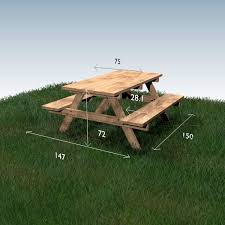 Plans For Wood Picnic Table by Best 20 Picnic Tables Ideas On Pinterest Diy Picnic Table