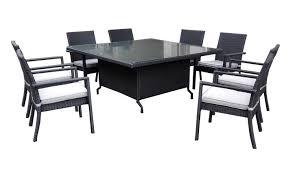 henryka 9 piece dining patio set with cushions black walmart