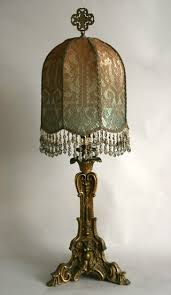Candlestick Lamp by Nightshades Antique Gold Candlestick Lamp With Custom Shade