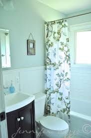 endearing bright vintage bathroom ideas with fancy shower curtain