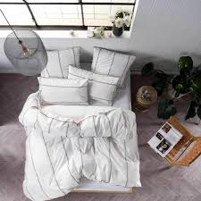 White Bedroom Furniture Jerome Single Bed Jerome White Quilt Cover U0026 Pillowcase Set By Linen House