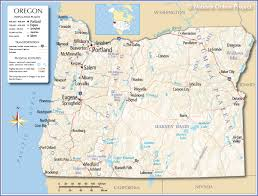 Time Zone Map United States Of America by Reference Map Of Oregon Usa Nations Online Project
