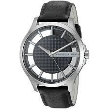 armani exchange black friday armani exchange men u0027s ax2186 u0027smart u0027 black leather watch free