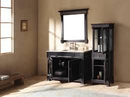 Beige And Black Bathroom Ideas Imposing Woods Materials To Build Black Bathroom Vanity Design