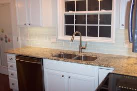 Cream Subway Tile Backsplash by Cool White Kitchen With Subway Tile Backsplash 1902