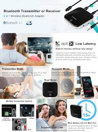 home theater bluetooth transmitter amazon com archeer bluetooth 4 1 transmitter and receiver