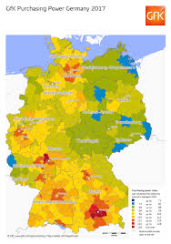 Map Germany by Map Of The Month Gfk Purchasing Power Germany 2017 Gfk Global