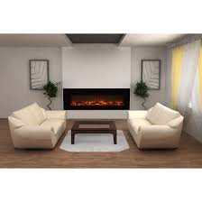 50 Electric Fireplace by Elite Flame Nile 72 Inch Log Electric Wall Mounted Fireplace