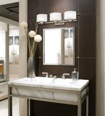white wall paint decoration in modern bathroom design idea with
