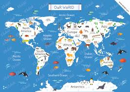 World Map Asia by World Map Chart And Posters For Kids Ekdali