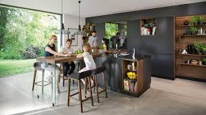 Design Line Kitchens Black Line Kitchen Cool Elegance Meets Natural Beauty Team 7