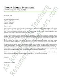 Elementary Teacher Cover Letter   sample cover letters for resumes happytom co