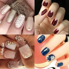 latest winter glitter sparkling nail art designs for girls