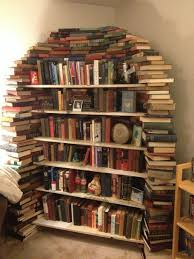 this is my bookshelf made out of books books shelves and nook