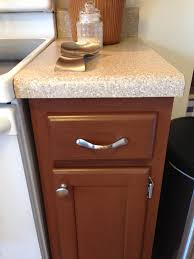 Painting Pressboard Kitchen Cabinets by Close Up Of Cabinet Color Gunstock Rustic Rustoleum Cabinet