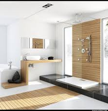 luxurious contemporary bathroom design with modern cabinets and