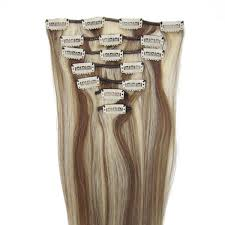 Indian Remy Human Hair Clip In Extensions by 18 Inch Straight Clip In Remy Hair Extensions 8 613 10 Pieces