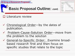 RSCH    Introduction to Health Research Writing a Research     Literature review Chronological Order   by the dates of publication  Problem Cause