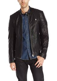 men s moto jacket g star raw denim g star raw men u0027s suzaki faux leather moto jacket