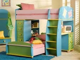 Bunk Beds  Rainbow Bunk Beds Blue Yellow Green Kids Bunk Bed - Kids bunk bed with desk