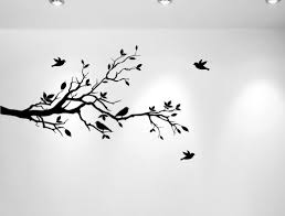 Tree Decal For Nursery Wall by Innovative Stencils Tree Branches With Leaves And Love Birds