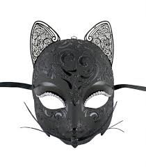 halloween costume mask black cat mask venetian fantasy masks