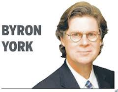 "... Washington Examiner chief political correspondent Byron York contended in his Tuesday column, ""Fawning press now gets cold shoulder from Obama. - ByronYork-WashEximage"