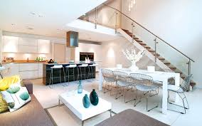 brilliant modern kitchen living room intended decorating