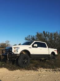 2015 Ford Fx4 Lifted 2015 F150 White And Caribou Ford Texas Trucks Lifted