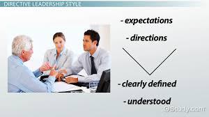 Directive Leadership Style  Definition  amp  Concept   Video  amp  Lesson     Directive Leadership Style  Definition  amp  Concept   Video  amp  Lesson Transcript   Study com
