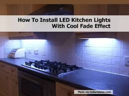 How To Design Kitchen Lighting by Led Kitchen Lights1 Jpg