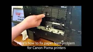 how to fix a canon paper feed problem youtube
