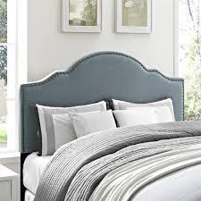 King Headboard Dorel Living Dorel Living Sloane Upholstered King Headboard Blue