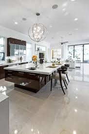 Kitchen Island Lamps White Kitchen Island With A Rounded Three Seater Table View