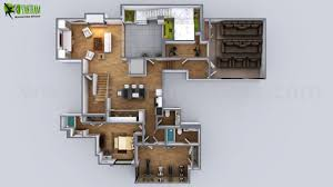 3d floorplan of modern house by yantram floor plan design