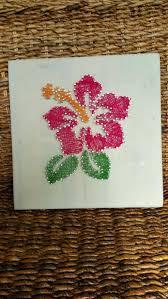 wall ideas hawaiian hibiscus flower string art home decor unique