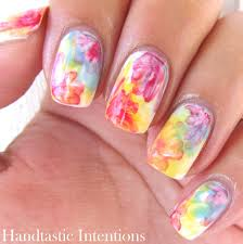 handtastic intentions nail art watercolor flowers tri polish tuesday