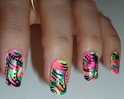 bright neon abstract nail design youtube neon nail design biz style