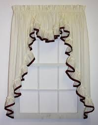 kitchen swags curtains window toppers