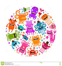 halloween cute clipart halloween cute monsters or microbes cartoon vector illustration
