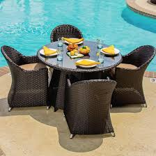 5 Pc Patio Dining Set - providence 5 piece resin wicker patio dining set by lakeview
