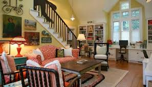 Creating Happy Rooms A Colorful Farmhouse In The City Room - Family room office