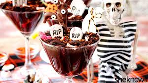 halloween dirt cake graveyard chocolate pudding haunted graveyard we u0027re not afraid to eat you