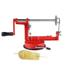 Twisted Kitchen Menu Amazon Com Penson U0026 Co Manual Red Stainless Steel Twisted Potato