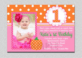 Birthday Invitation Cards For Kids Pumpkin Birthday Invitation Pumpkin 1st Birthday Party