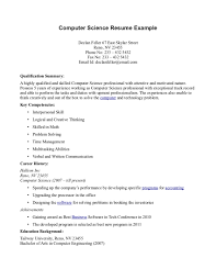 Sample Undergraduate Resume Sample Resume For College Internship